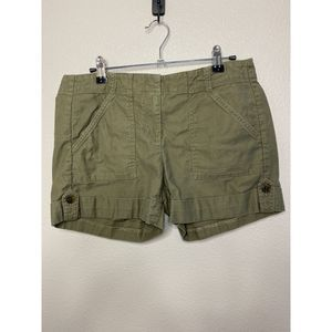 Ann Taylor Olive Utility Shorts Size 2